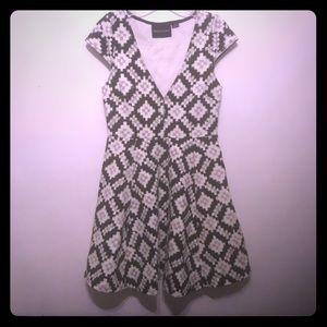 Mink Pink Structural Cotton Blend Dress.